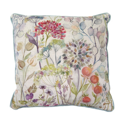 Country Garden linen feather cushion