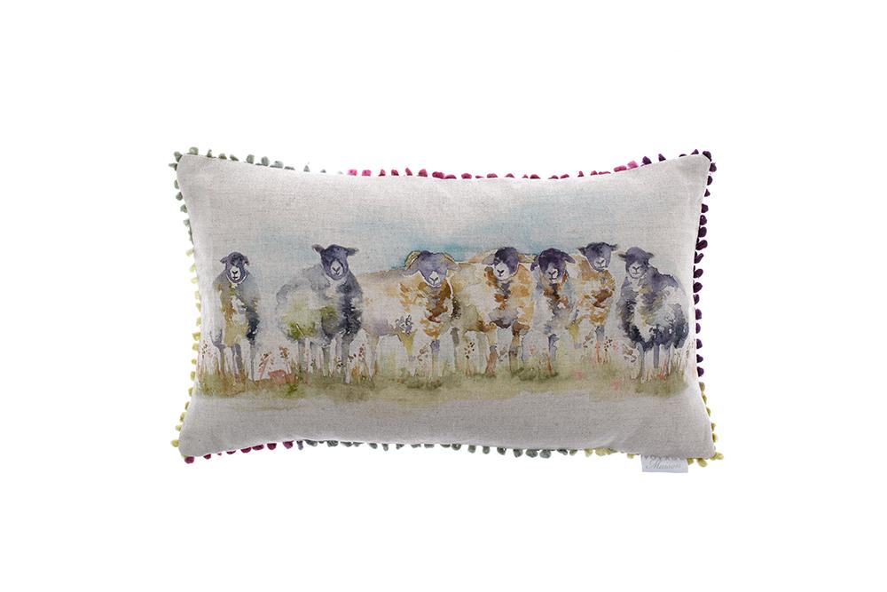 Sheep Cushion feather linen